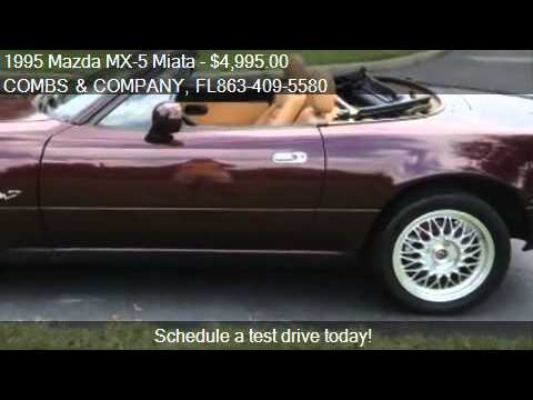 1995 mazda mx 5 miata m edition for sale in lakeland fl 3 youtube. Black Bedroom Furniture Sets. Home Design Ideas