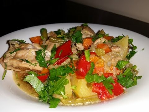 Суфле из курицы с овощами