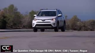 2017 Ford Escape VS Honda CRV   Toyota RAV4   CX-5   Tucson   Rogue   Most Complete review Part 4/7
