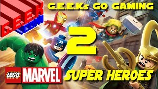 Let's Play Lego Marvel Superheroes - Part 2 (G.E.E.Ks Go Gaming 15)