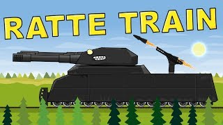 """""""Ratte Train"""" Cartoons about tanks"""