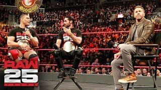 "Christian invites Seth Rollins & Jason Jordan to ""The Peep Show"": Raw 25, Jan. 22, 2018"