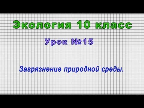 Экология 10 класс (Урок№15 Загрязнение природной среды.)