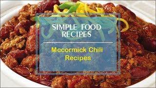 Mccormick Chili Recipes Youtube