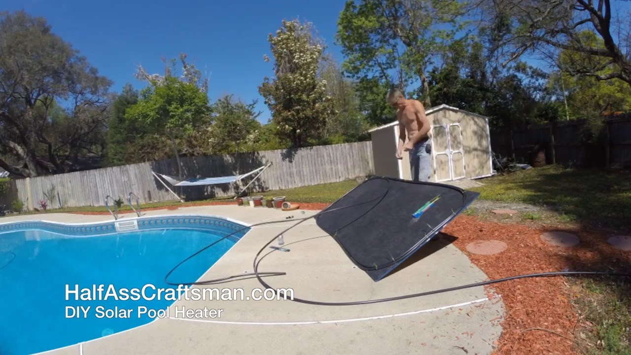 diy solar pool heater build time lapse youtube
