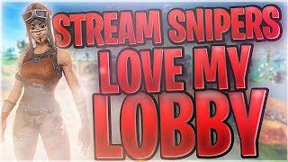 GOT STREAM SNIPED BY 6 PEOPLE IN ONE LOBBY! ~ NO BIG DEAL! ~ (Fortnite Battle Royale)