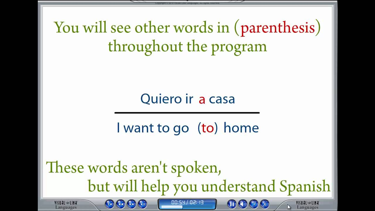 learn spanish with visual link spanish basic needs lesson 6 youtube