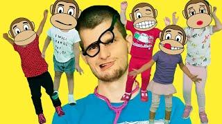 Пять маленьких обезьян - Детская песня | Песни для детей с Ба Би Бу