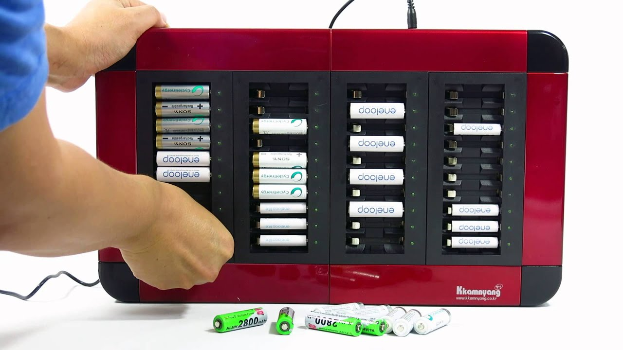 Kkamnyang K A40 Multi Rechargeable Battery Quick Charger 40 Channel AAA AA Ni MH Eneloop Sanyo Sony
