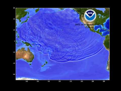 October 27, 2012 Queen Charlotte Island, Canada tsunami propagation
