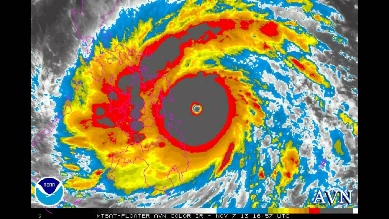 Super Typhoon Haiyan Satellite Imagery Of Approach And