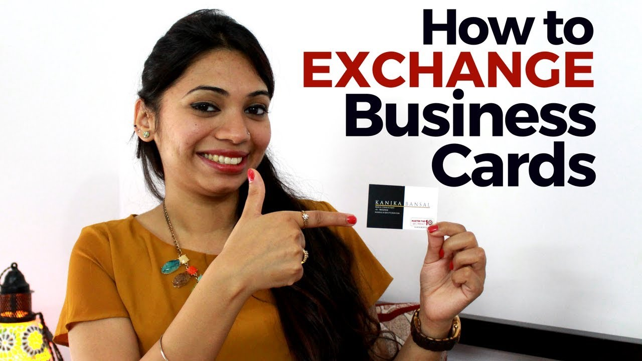 How to exchange Business Cards - YouTube