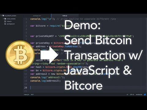 HowTo Send A Bitcoin Transaction With JavaScript \u0026 Bitcore