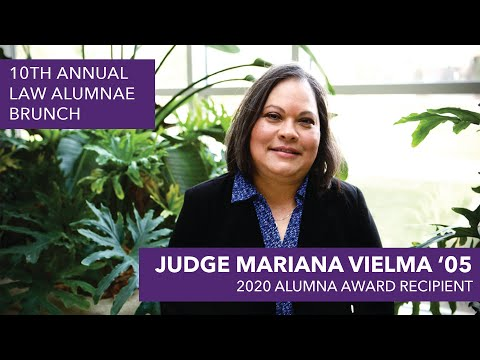 Law Alumna Award 2020 - Judge Mariana Vielma '05