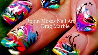 No Water Needed - Marble nail art Tutorial