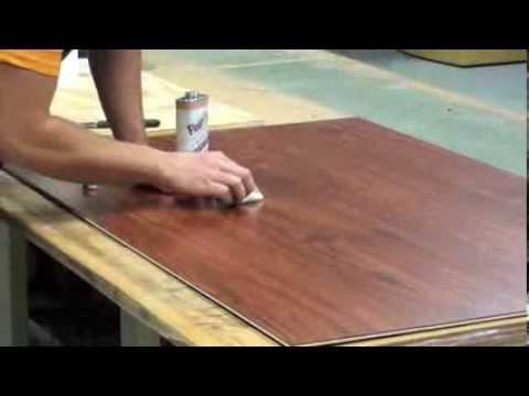 How to repair damaged laminate flooring.