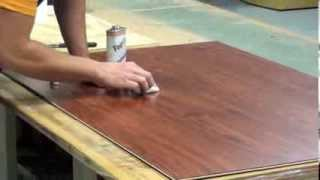 How to repair damaged laminate flooring.