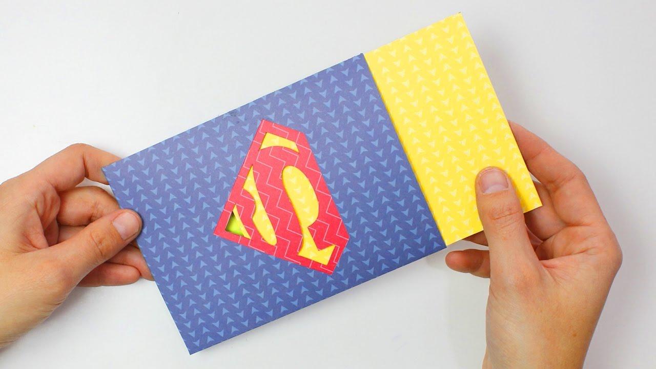 Tarjeta logo SUPERMAN para súper papá - súper mamá (con plantillas ...