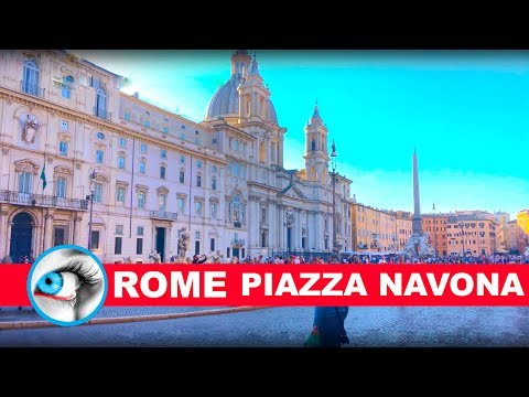 PIAZZA NAVONA - ROME - ITALY - 4K 2017 TRAVEL GUIDE