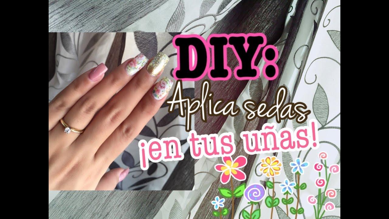 Tutorial: Cómo aplicar sedas en las uñas acrílicas (+DISEÑO ...