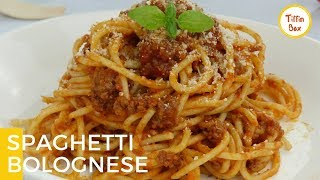 Easy Spaghetti Bolognese by Tiffin Box for Kids