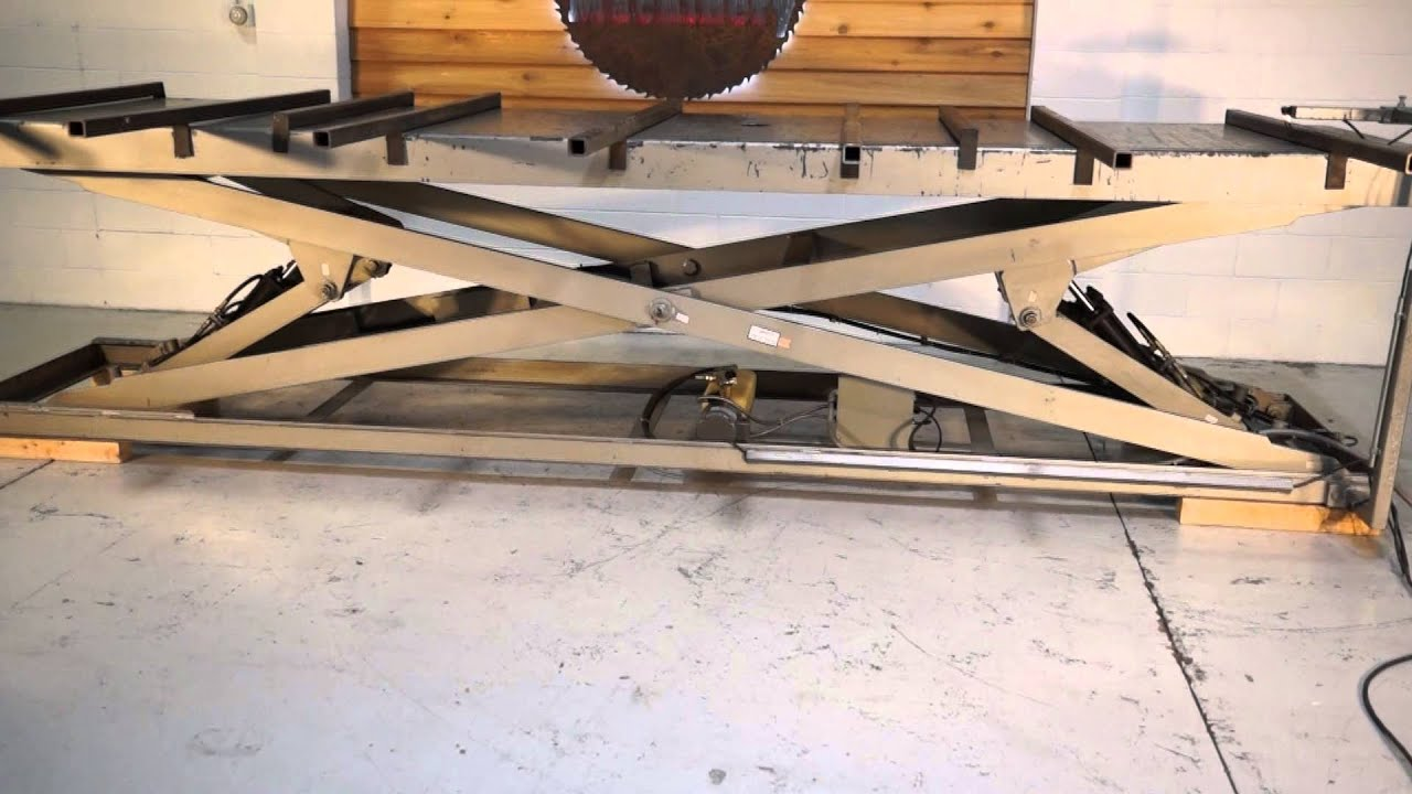 8000 Lb Hydraulic Scissor Lift Table 4 X 16 Youtube
