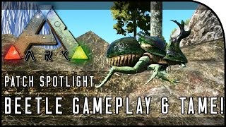ARK: Survival Evolved DUNG BEETLE GAMEPLAY & TAMING! (POOP = OIL & FERTILIZER)