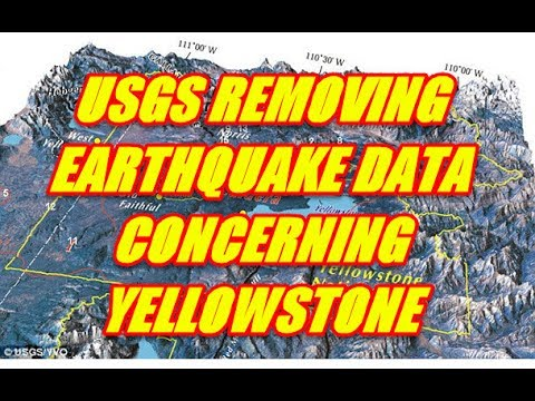 NIBIRU CHANNEL - USGS REMOVING EARTHQUAKE DATA CONCERING YELLOWSTONE CONSPIRACY BEGINS