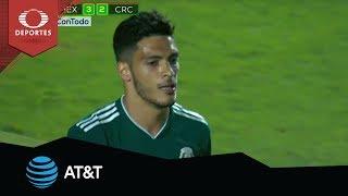 Penal de Raúl Jiménez | México 3 - 2 Costa Rica | Amistoso | Presentado por AT&T