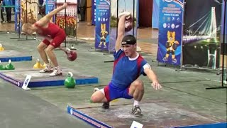 Johny Benidze - 137+142 kettlebell biathlon / Джони Бенидзе - 137+142 в сумме двоеборья(Johny Benidze (MSIC of Russia) at the World Championship - 2013 (kettlebell sport biathlon, 63 kg weight category): Jerk - 137 reps, Snatch - 142 reps, Biathlon ..., 2015-02-03T20:09:19.000Z)