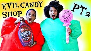 GIANT Candy Shop Part 2 - Greedy Granny In Real Life - Shiloh and Shasha - Onyx Kids