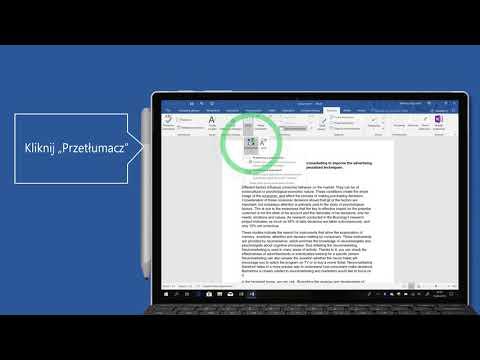 Office 365 | Przetłumacz dokument w aplikacji Word