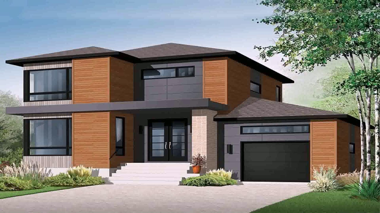 Modern house plans with underground garage youtube for Modern house plans with garage