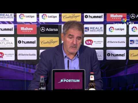 Rueda de prensa de Paco Herrera tras el Real Valladolid vs RCD Mallorca (2-1)