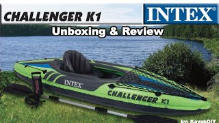 Intex Challenger K1 Kayak:  Portable & Affordable!(Buy Intex Challenger K1 Inflatable Kayak (about $69): http://amzn.to/1LRldDB Buy Tandem Version (Challenger K2) Inflatable Kayak (about $109): ..., 2015-09-06T04:42:15.000Z)