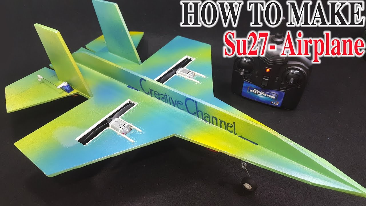 medium resolution of how to make a rc airplane su 27 sukhoi twin 180 motor