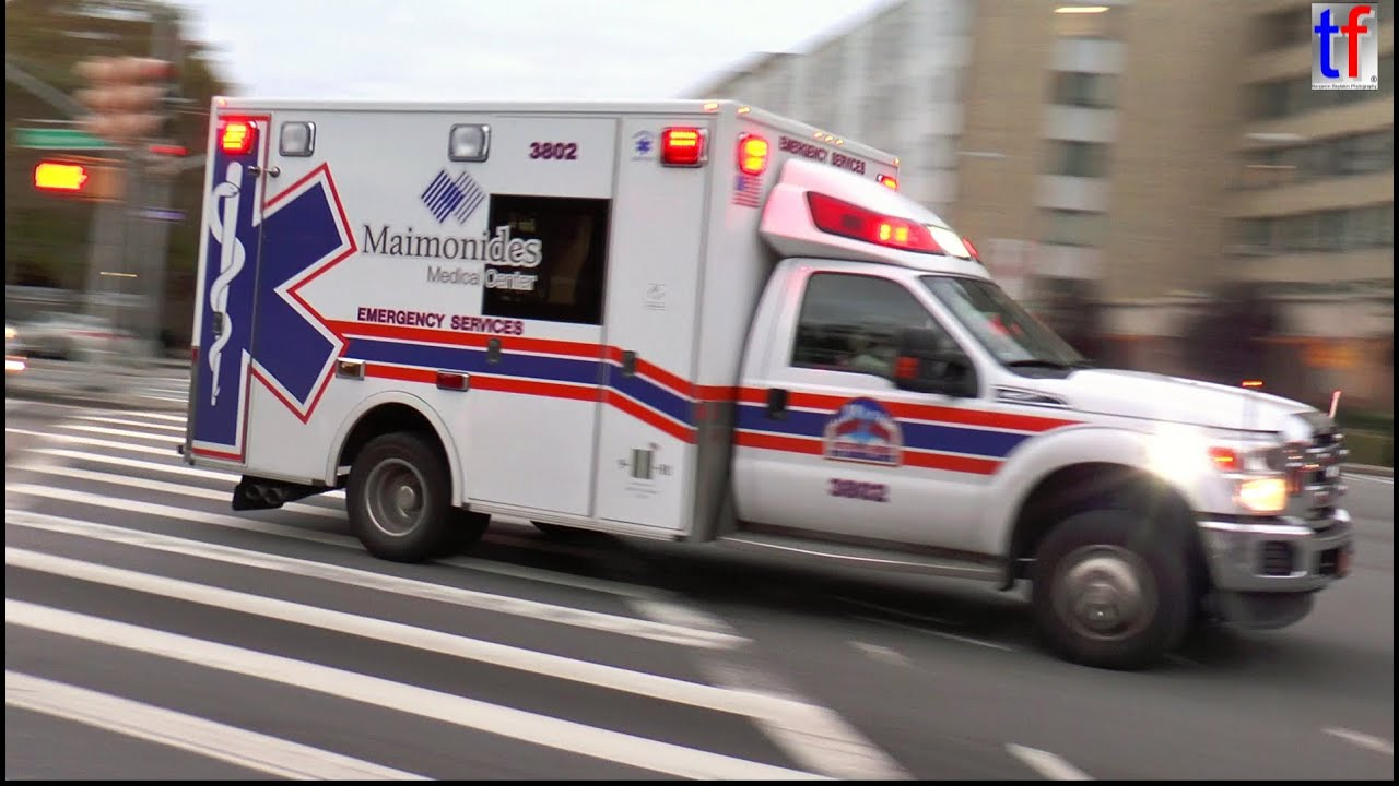Maimonides Medical Center Ambulance responding in Brooklyn, NY, USA, 2014