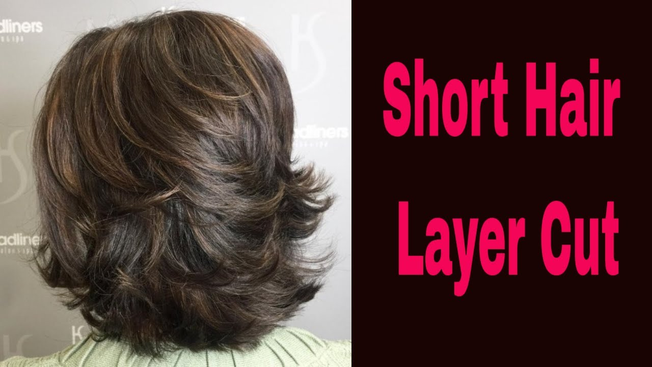 10 DEGREE LAYER CUT  Short Hair Layer Cut  Advance Layer Cut