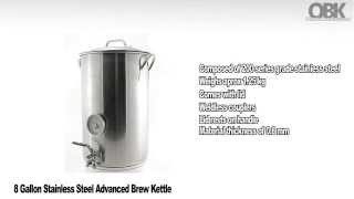 8 Gallon Stainless Steel Advanced Brew Kettle - product information - ontariobeerkegs.com