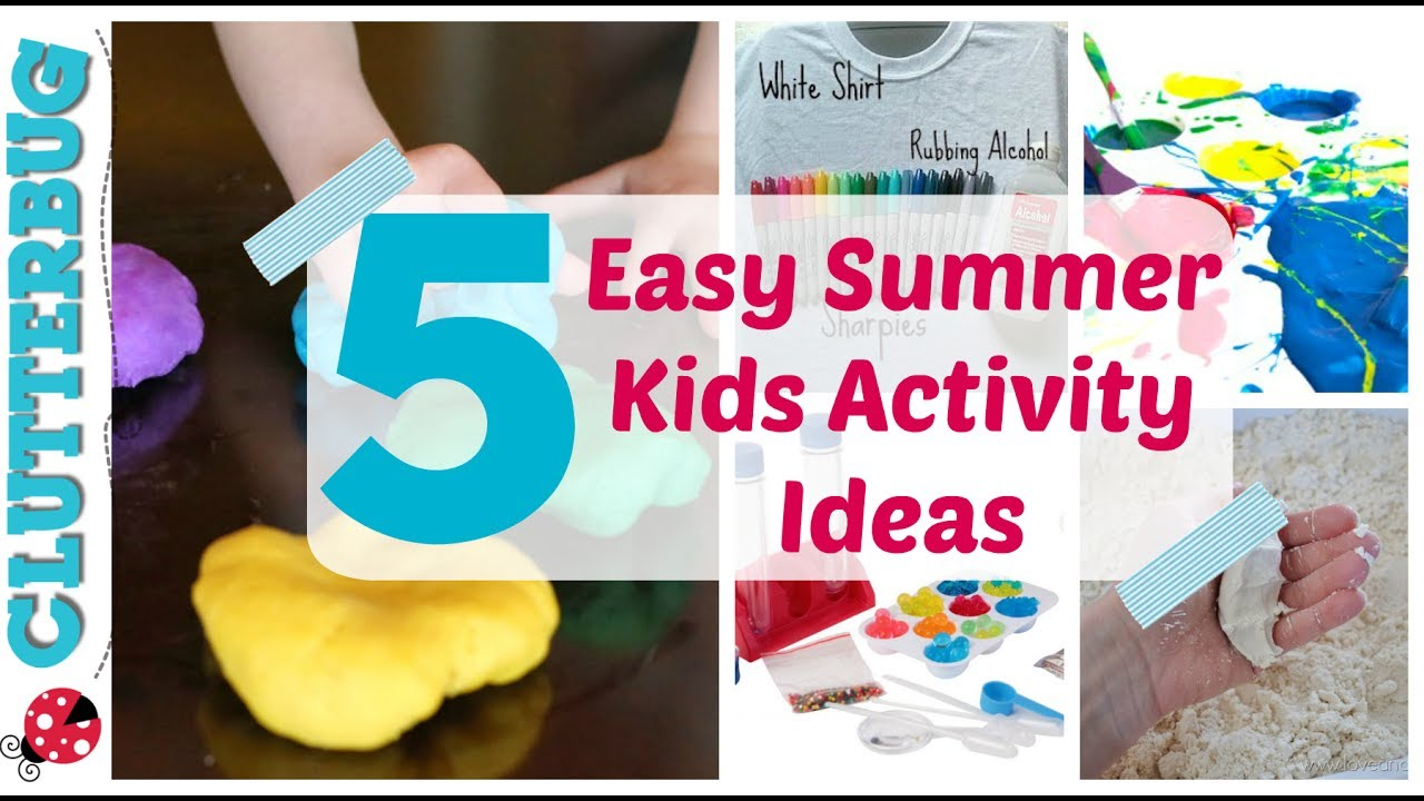 5 Easy Summer Activity Ideas For Kids Dollar Tree Summer Fun Youtube