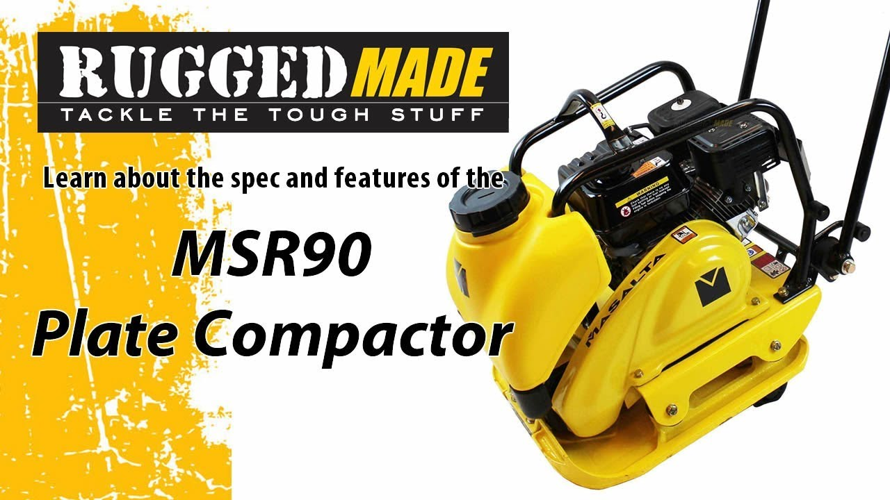 Single Direction Plate Compactor with Water Tank (MSR90)