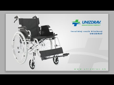 Invalidný vozík UNIZDRAV hliníkový - VIDEOMANUÁL
