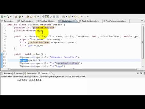 Java Tutorial - Inheritance And Polymorphism
