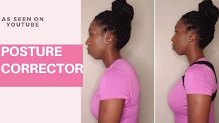 POSTURE CORRECTING BACK BRACE   UNBOXING DEMO AND REVIEW   AMAZON   TIEESHA ESSEX