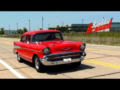 Test Driving 1957 Chevy Bel Air 383 Stroker V8 Restomod