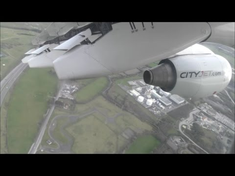 CityJet Avro RJ85 | Dublin to London City *Full Flight*