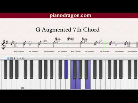子供向けぬりえ: 綺麗なG Augmented 7 Chord Piano