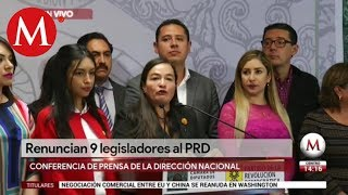 Conferencia De Prensa Por Renuncia De 9 Legisladores Del PRD