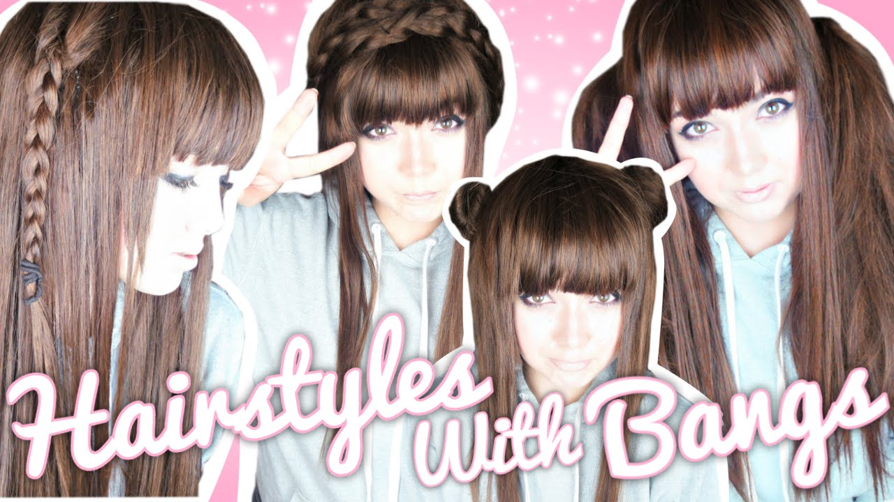 Easy Hairstyles For Bangs! ♡