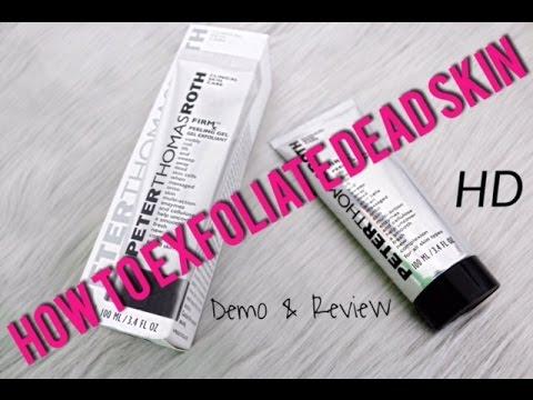 How To Exfoliate Dry Skin | Review | PTR FirmX Peeling Gel | Tia Kirby